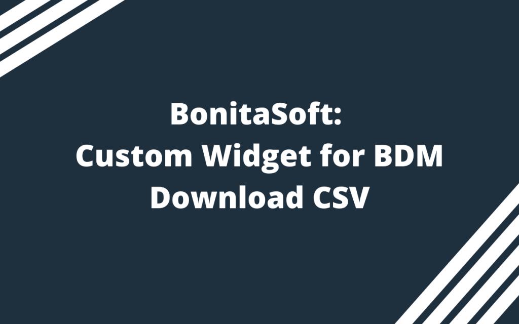 Custom Widget for BDM Download CSV