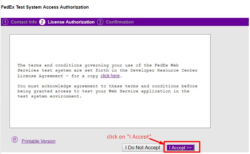 FedEx Licence Authorization