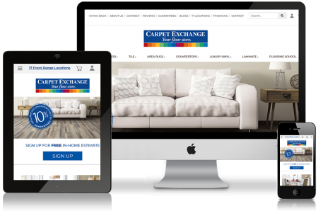 CarpetExchange website design